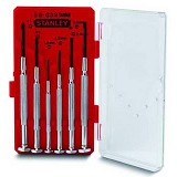 STANLEY 6-Piece Bi-Material Handle Precision Screwdriver Set [66-039-23] - Obeng Set